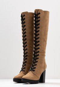 Even&Odd - Laarzen met hoge hak - sand - 4