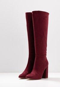 Even&Odd - Boots med høye hæler - bordeaux - 4