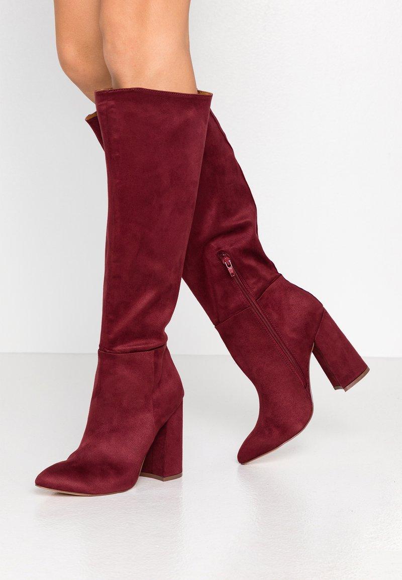 Even&Odd - Boots med høye hæler - bordeaux