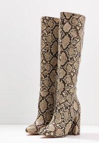 Even&Odd - Boots med høye hæler - brown/beige - 4