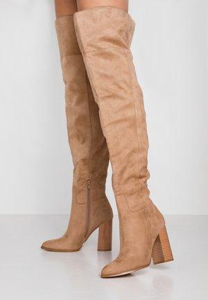 Laarzen met hoge hak - sand