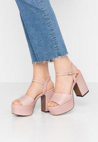 Even&Odd - Sandály na vysokém podpatku - nude - 0