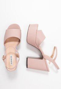 Even&Odd - Sandály na vysokém podpatku - nude - 3