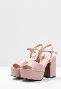 Even&Odd - Sandály na vysokém podpatku - nude - 4