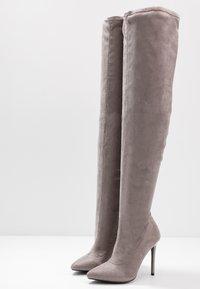 Even&Odd - High heeled boots - grey - 4