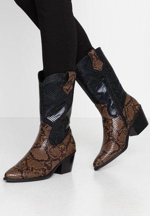 Stivali texani / biker - brown/black