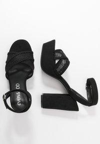 Even&Odd - Sandalias de tacón - black - 3