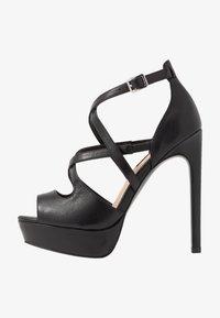 Even&Odd - LEATHER - High heeled sandals - black - 1