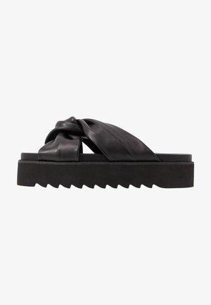 LEATHER - Pantofle - black