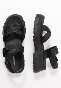 Even&Odd - Platform sandals - black - 3