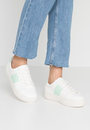 Sneakers laag - mint/white