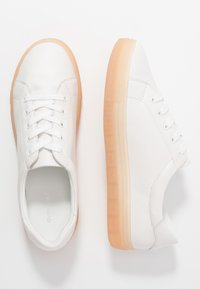 Even&Odd - LEATHER  - Sneakers basse - white/coral - 1