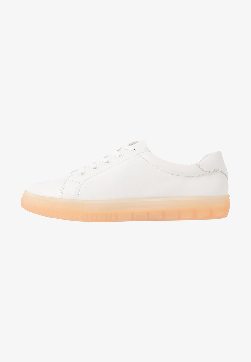 Even&Odd - LEATHER  - Sneakers basse - white/coral