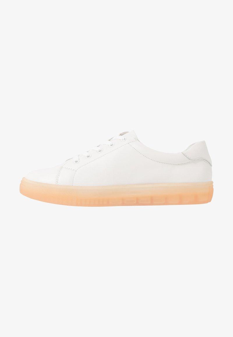Even&Odd - LEATHER  - Trainers - white/coral