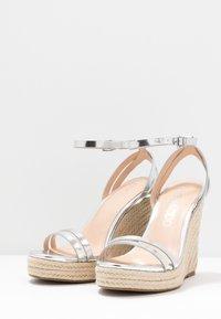 Even&Odd - Korolliset sandaalit - silver - 4