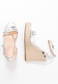Even&Odd - Korolliset sandaalit - silver - 3