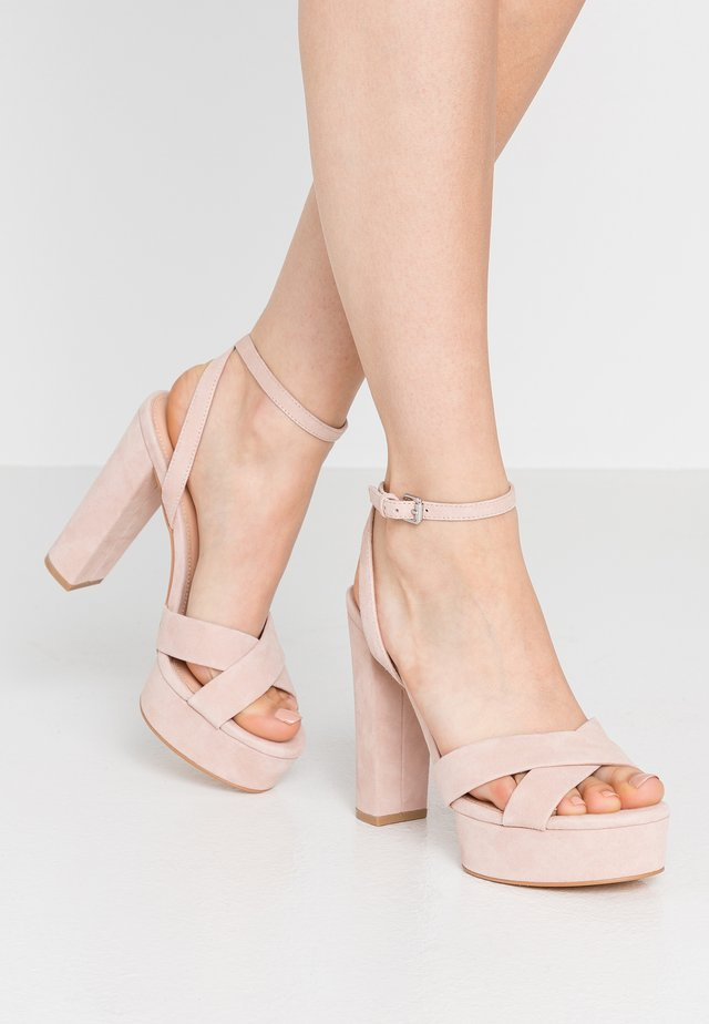 LEATHER - High Heel Sandalette - nude