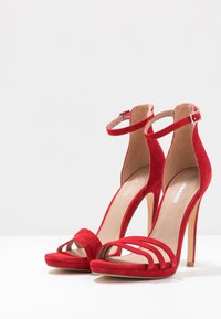 Even&Odd - LEATHER - High heeled sandals - red - 4