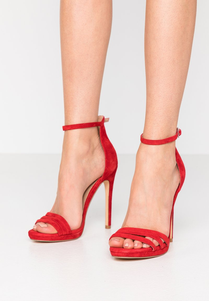 Even&Odd - LEATHER - High heeled sandals - red