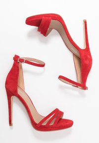 Even&Odd - LEATHER - High heeled sandals - red - 3