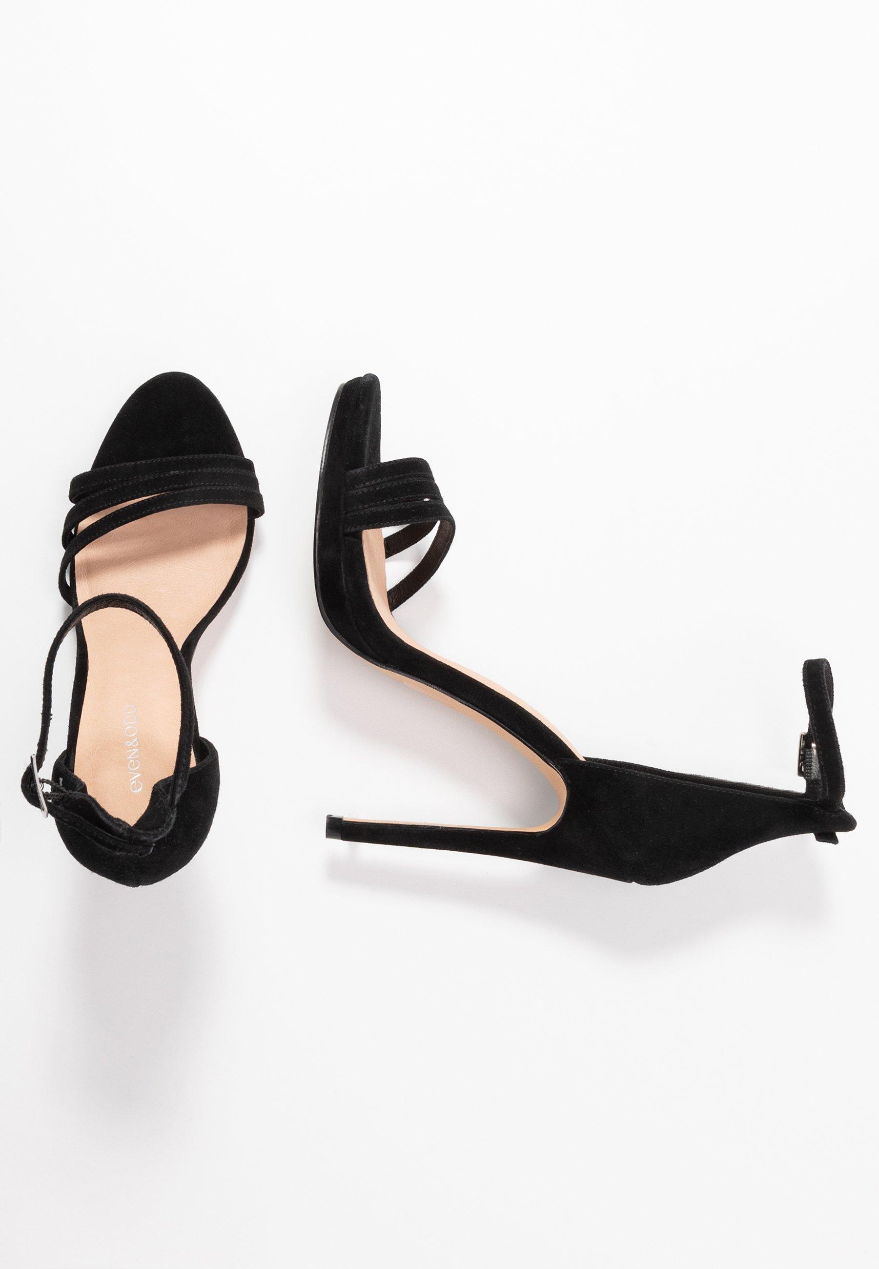 Even&odd Leather - High Heeled Sandals Black