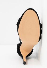 Even&Odd - LEATHER - Korolliset sandaalit - black - 6