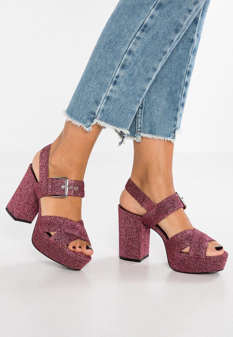 Even&Odd - High Heel Sandalette - pink