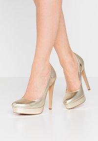 Even&Odd - Zapatos altos - gold - 0