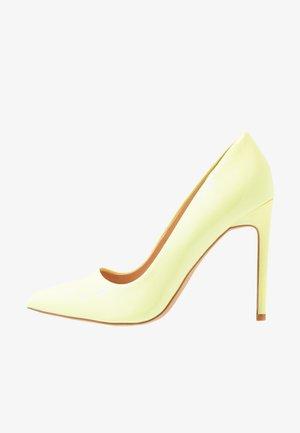 Høye hæler - neon yellow