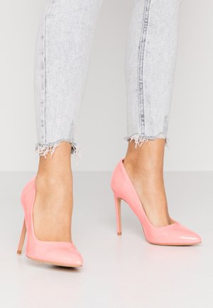 Klassiska pumps - neon pink