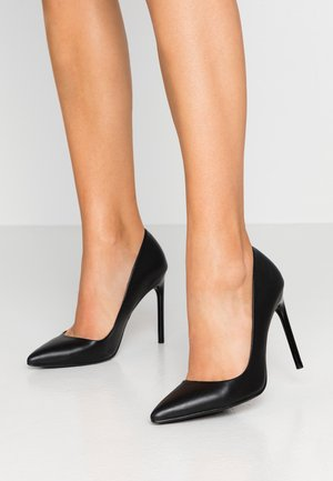 LEATHER PUMP - Høye hæler - black