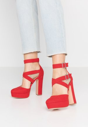 High Heel Pumps - coral