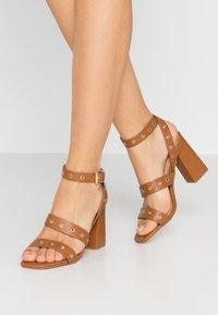 Even&Odd - High heeled sandals - cognac - 0