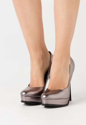 High heels - gunmetal