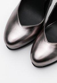 Even&Odd - Zapatos altos - gunmetal - 5