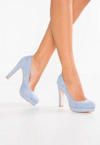 Even&Odd - Klassiska pumps - light blue - 0
