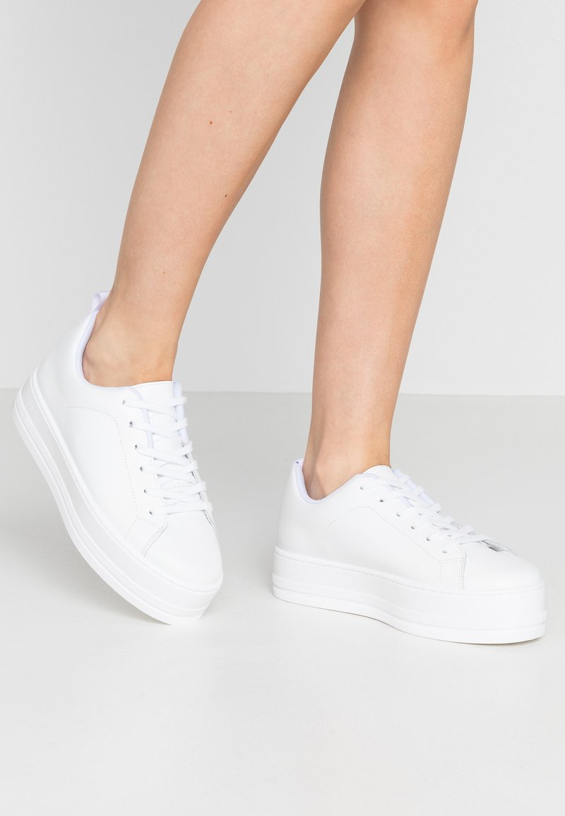 Even&Odd - LEATHER - Sneakers - white