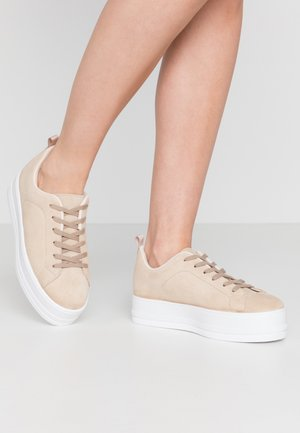 LEATHER - Trainers - sand
