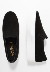 Even&Odd - LEATHER - Slippers - black - 1