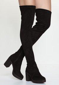 Even&Odd - Kozačky na vysokém podpatku - black - 0