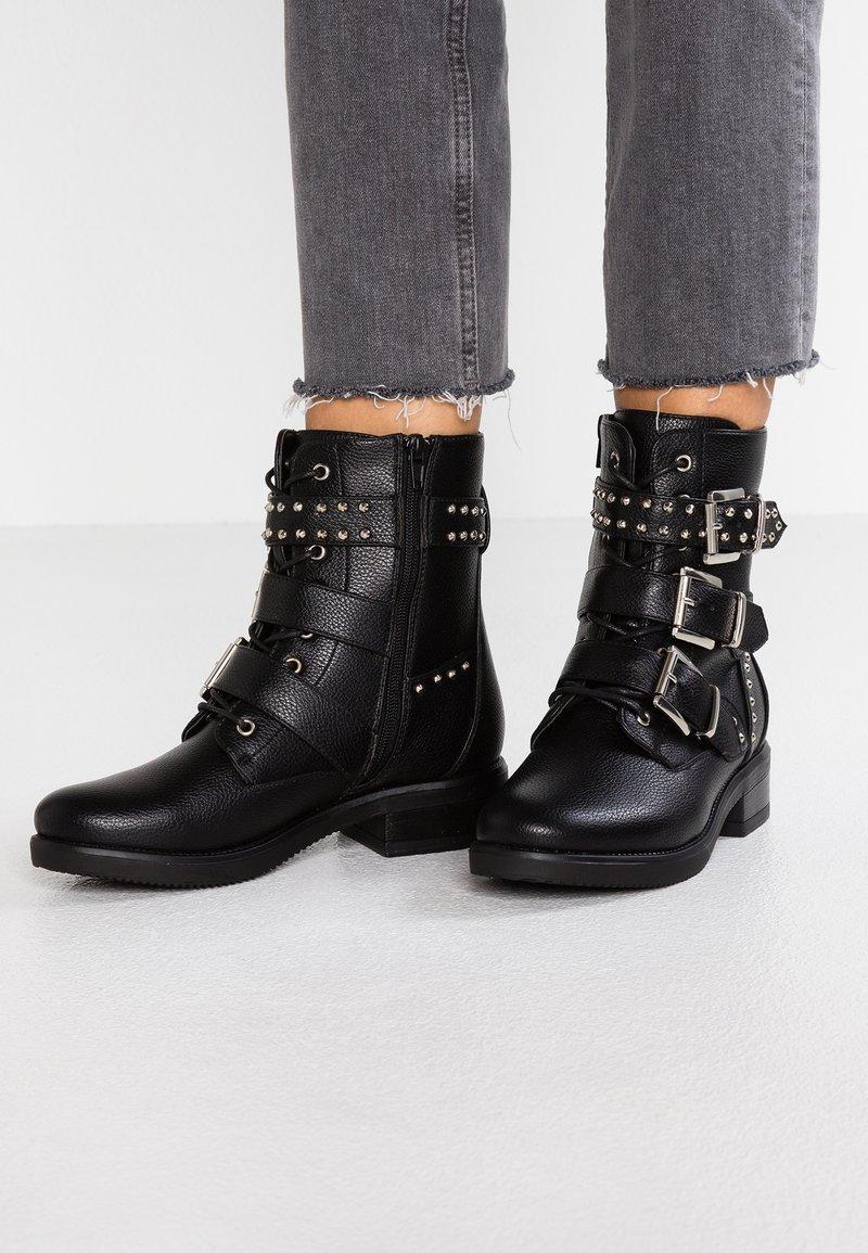 Even&Odd - Cowboy/biker ankle boot - black
