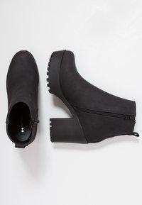 Even&Odd - Kotníková obuv na vysokém podpatku - black - 3