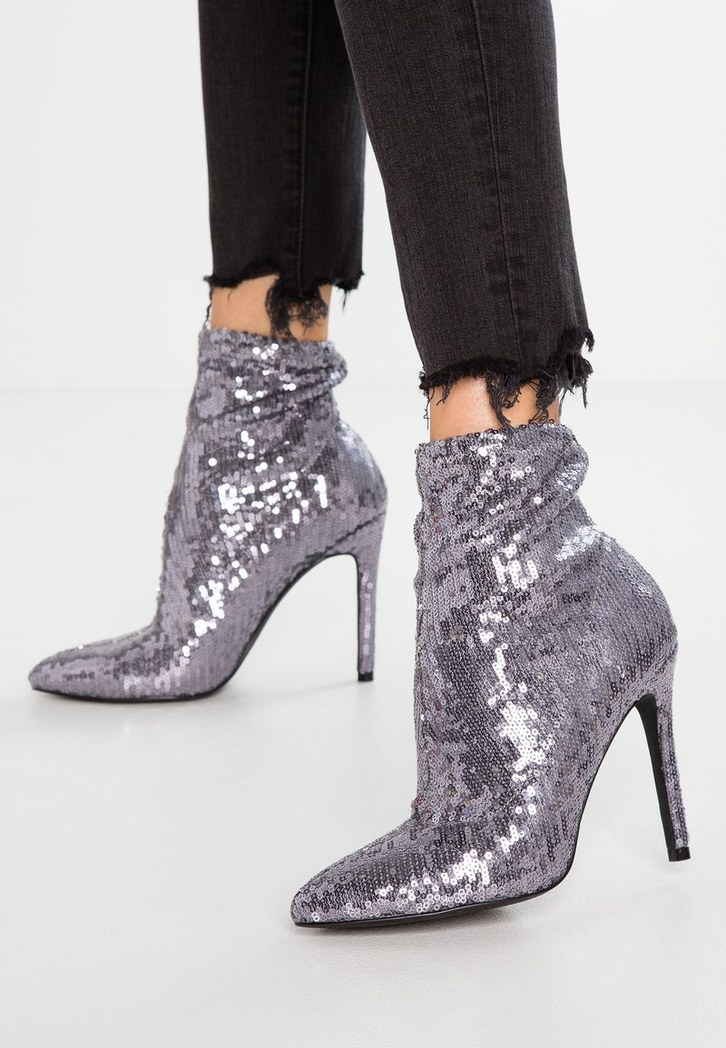 Even&Odd - High heeled ankle boots - gunmetal