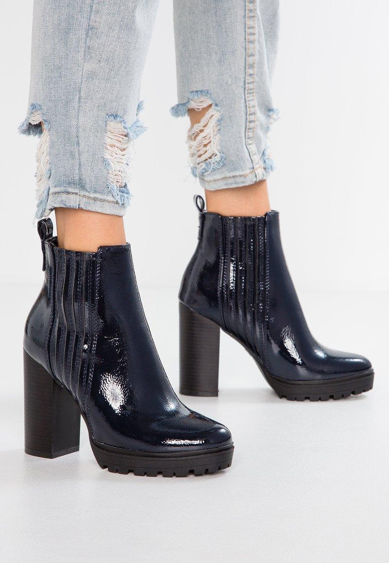 Even&Odd - High heeled ankle boots - dark blue