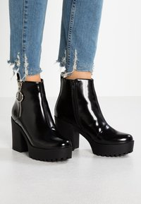 Even&Odd - Ankelboots med høye hæler - black - 1