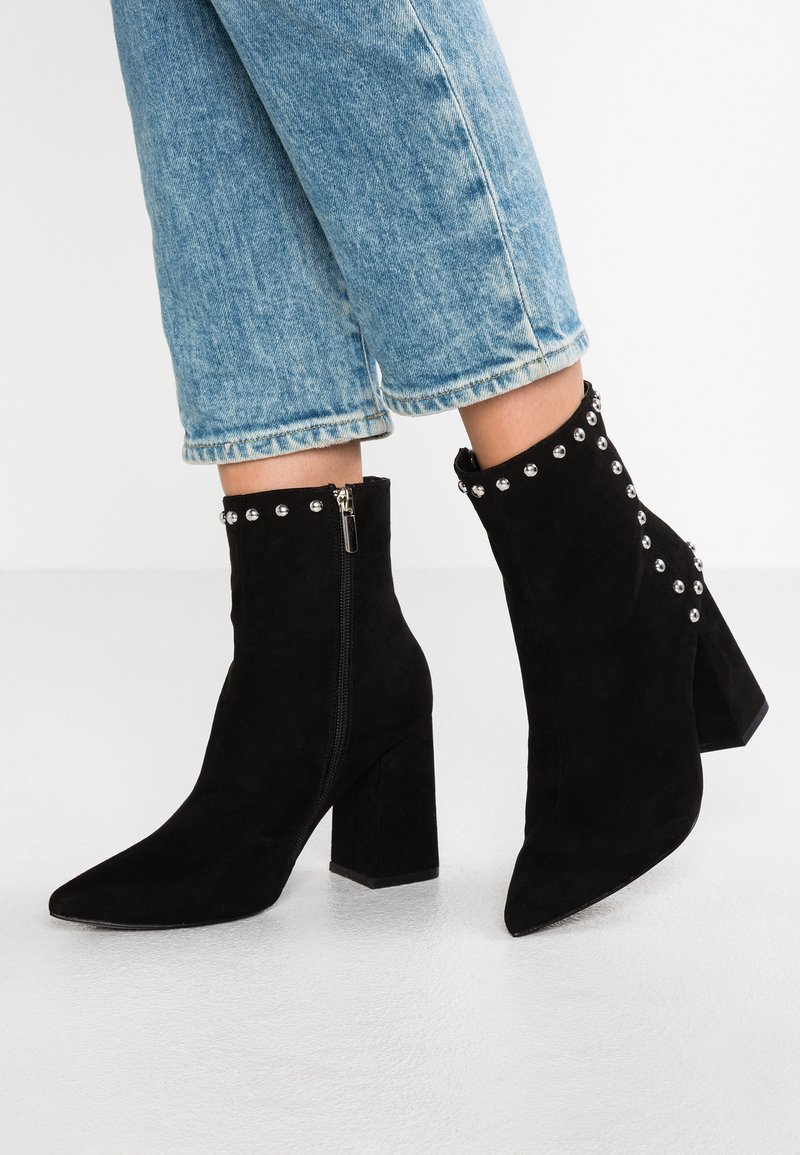 Even&Odd - High heeled ankle boots - black