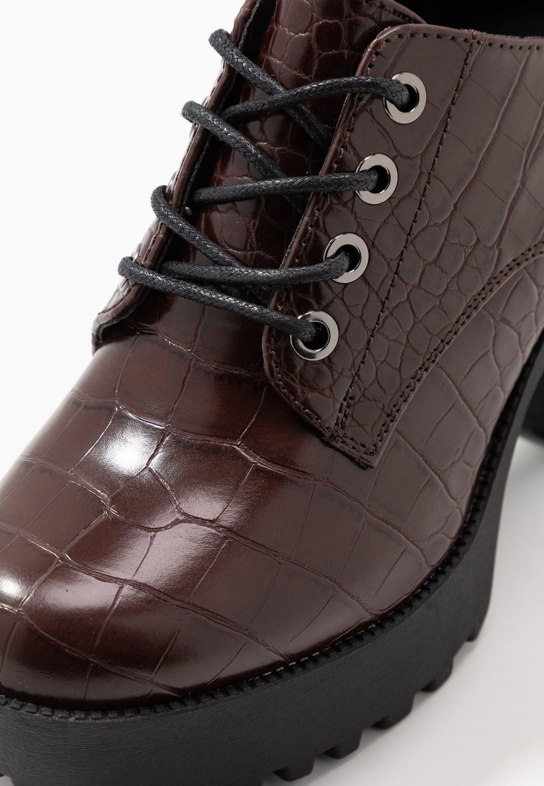 Even&Odd Ankelboots med høye hæler - brown