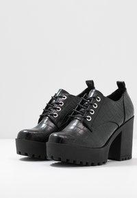 Even&Odd - Kotníková obuv na vysokém podpatku - black - 4
