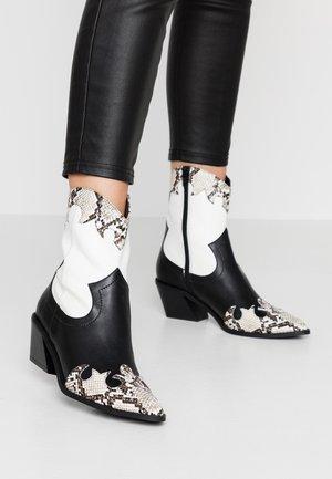 Cowboystøvletter - white/black