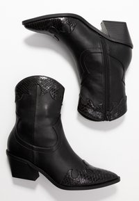Even&Odd - Cowboy/biker ankle boot - black
